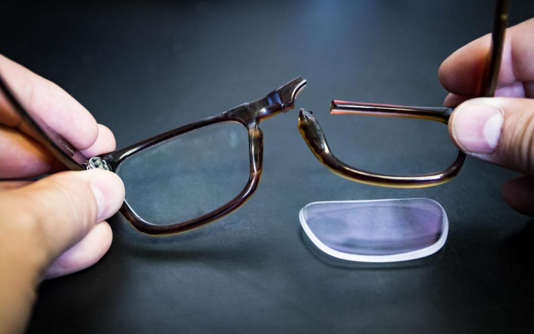 Meu óculos de grau quebrou, e agora?